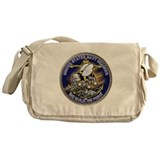 US Navy Seabees We Fight Gold Messenger Bag