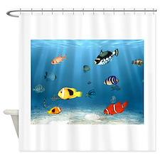 Bass fishing shower curtains bass fishing fabric shower curtain