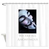 Cute Guy fawkes Shower Curtain