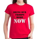 Bring Troops Home Women's Dark T-Shirt