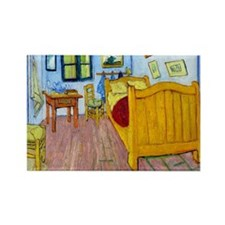 Van Gogh - Bedroom at Arles Rectangle Magnet (10 p
