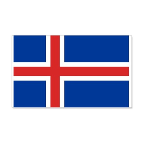 Iceland Flag 22x14 Wall Peel