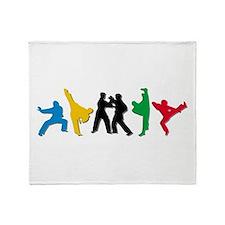 Tae Kwon Do Kicks Throw Blanket