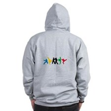 Tae Kwon Do Kicks Zip Hoodie
