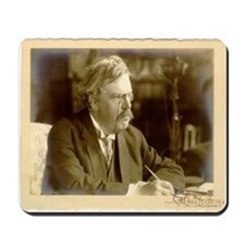 Cute Gk chesterton Mousepad