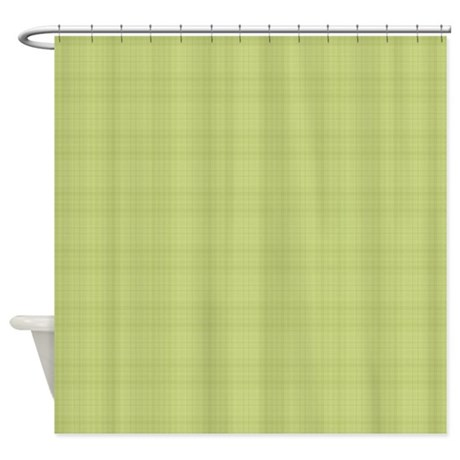 light green plaid shower curtain by laurie77