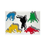 Wrestling Rectangle Magnet (100 pack)