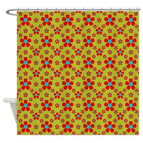 Red Blue And Green Shower Curtain By Laurie77