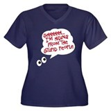 I'm hiding Women's Plus Size V-Neck Dark T-Shirt