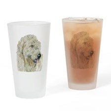 Cream Labradoodle #3 Drinking Glass