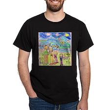 Tiana's family in the Mountai Black T-Shirt