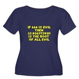 666 Root of all evil Women's Plus Size Scoop Neck