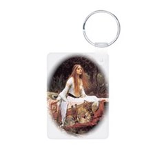 Lady of Shalott Aluminum Photo Keychain