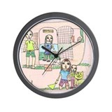 Monique's family camping Wall Clock