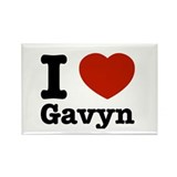 I love Gavyn Rectangle Magnet (10 pack)