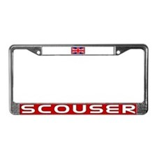 Scouser in Red License Plate Frame
