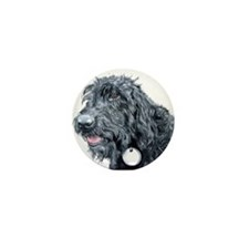 Black Labradoodle #3 Mini Button