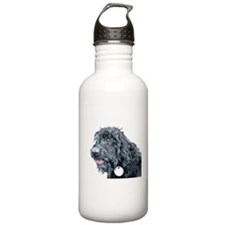 Black Labradoodle #3 Water Bottle