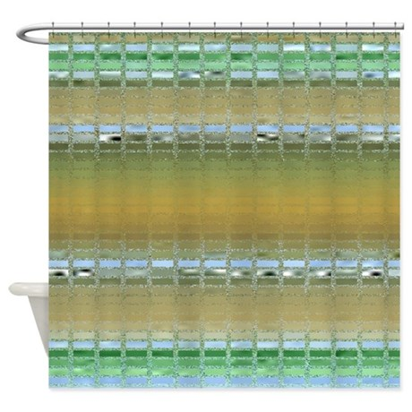 Earth tone mosaic shower curtain by outofdomsmind for Bathroom decor earth tones