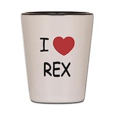 I heart rex Shot Glass