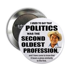 "Politics - The second oldest profession 2.25"" Butt"