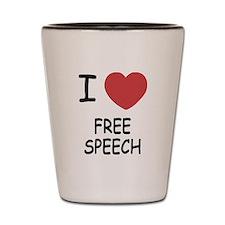I heart free speech Shot Glass