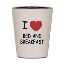 I heart bed and breakfast Shot Glass