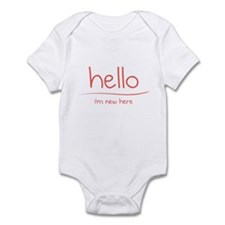 Hello - I'm New Here Infant Bodysuit