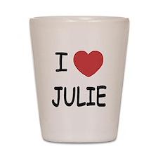I heart julie Shot Glass