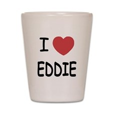 I heart eddie Shot Glass