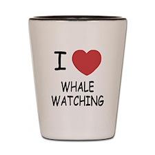 I heart whale watching Shot Glass