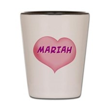 mariah heart Shot Glass