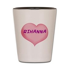 rihanna heart Shot Glass