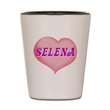 selena heart Shot Glass