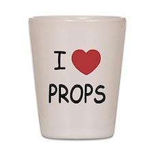 I heart props Shot Glass