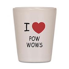 I heart pow wows Shot Glass