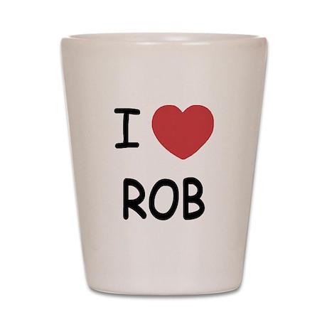 I heart rob Shot Glass
