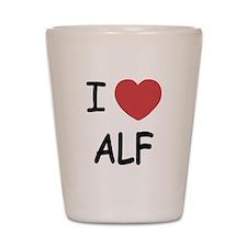 I heart alf Shot Glass