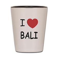 I heart Bali Shot Glass