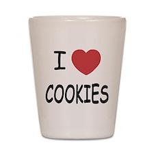 I heart cookies Shot Glass