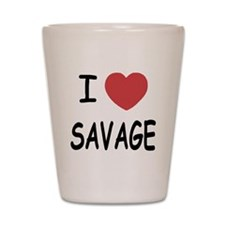 I heart savage Shot Glass