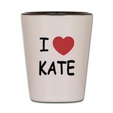 I heart kate Shot Glass
