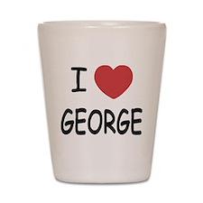 I heart george Shot Glass
