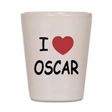 I heart Oscar Shot Glass