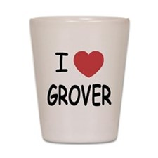 I heart Grover Shot Glass