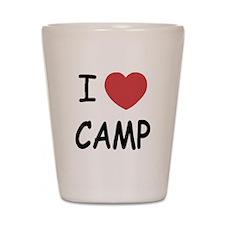 I heart camp Shot Glass