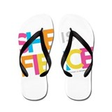 She is Fierce - Color Merge Flip Flops