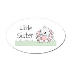 Bunny Little Sister 38.5 x 24.5 Oval Wall Peel