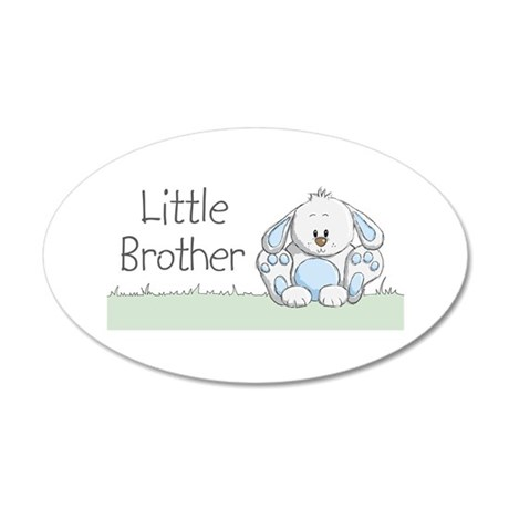 Bunny Little Brother 22x14 Oval Wall Peel