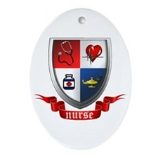 Nursing Crest Ornament (Oval)
